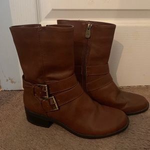 NWOT Anne Klein Brown Leather Boots